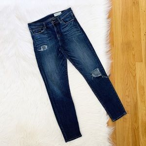 Pistola | High Rise Distressed Skinny Jeans